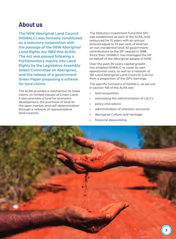 About NSW Aboriginal Land Council